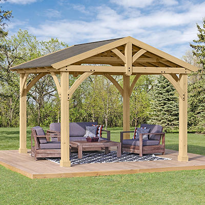 Yardistry Carolina 11' x 13' Pavilion - Coffee Brown