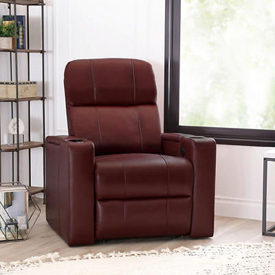 Abbyson Living Ryder Theatre Recliner - Red