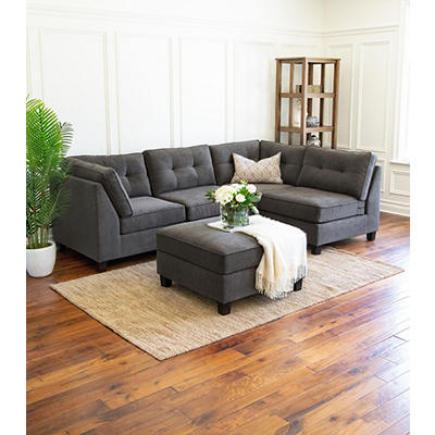Abbyson Living Kayden 5-Pc. Modular Sectional - Gray