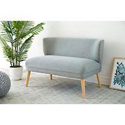 Abbyson Living Ollie Mid-Century Fabric Loveseat - Gray
