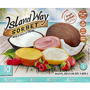 Island Way Sorbet Variety Pack, 10 ct.