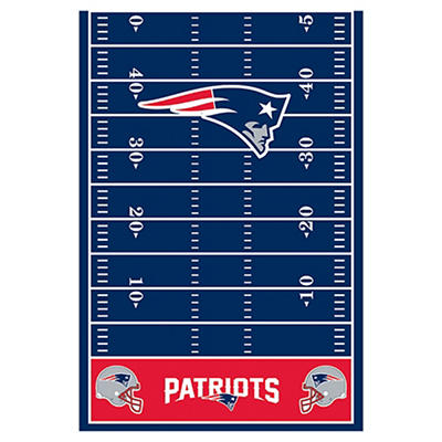 "Amscan New England Patriots 54"" x 102"" Plastic Table Cover"