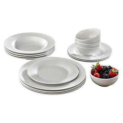 Porcelain Dinnerware Set, 16 pc. - White