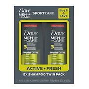 Dove Men+Care Sport Care Active + Fresh Shampoo 3-in-1, 2 pk./20.4 oz.