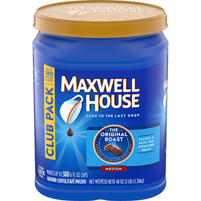 Maxwell House Original Roast Ground Coffee, 48 oz.