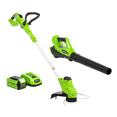 "Greenworks 12"" 40V String Trimmer and 40V Axial Blower Combo"