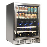 NewAir 70-Can 20-Bottle Dual Zone Wine and Beverage Fridge