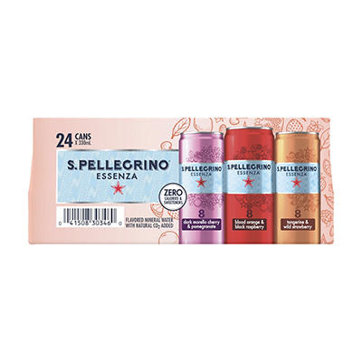 San Pellegrino Essenza Rainbow Sparkling Fruit Drink, 24 pk./330mL