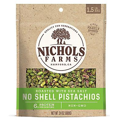 Nicholas Farms Roasted Salted California Pistachios Kernels, 24 oz.