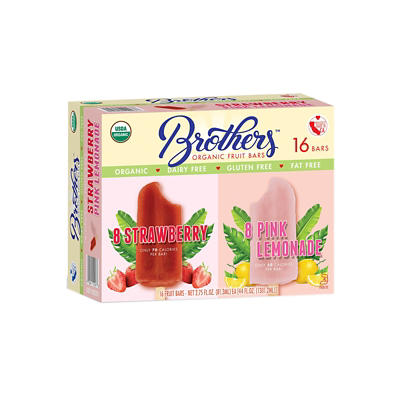 Brothers Organic Strawberry and Pink Lemonade Fruit Bars, 16 ct.