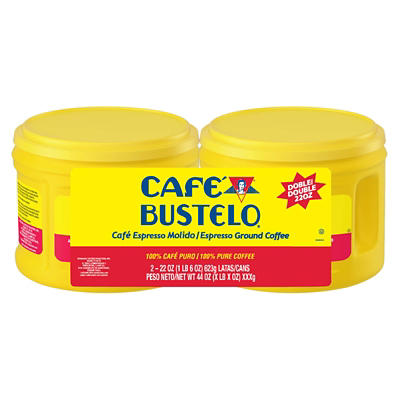 Cafe Bustelo Espresso Dark Roast Ground Coffee, 2 pk./22 oz.