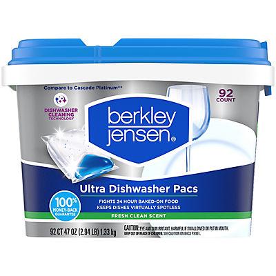 Berkley Jensen Ultra Dishwasher Pacs, 92 ct.