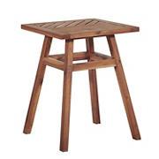 W. Trends Outdoor Finn Acacia Wood Side Table - Brown