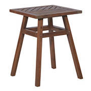W. Trends Outdoor Finn Acacia Wood Side Table - Dark Brown