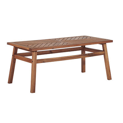 W. Trends Outdoor Acacia Wood Coffee Table - Natural