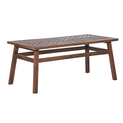 W. Trends Outdoor Acacia Wood Coffee Table - Dark Brown