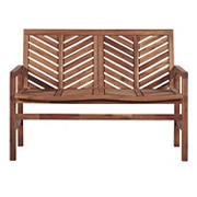 W. Trends Outdoor Finn Acacia Wood Loveseat - Brown