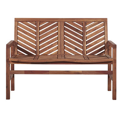 W. Trends Outdoor Acacia Wood Love Seat - Natural