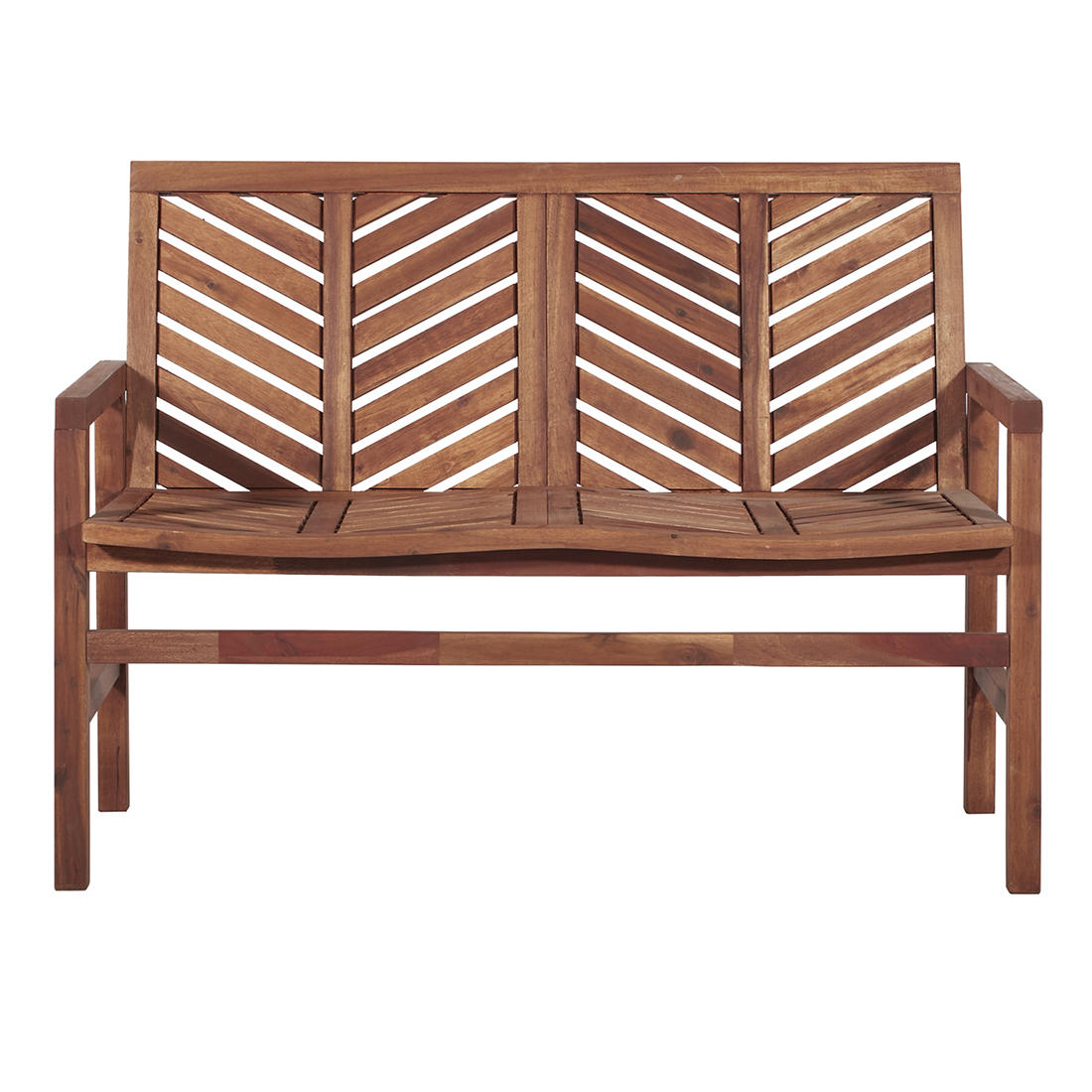 Enjoyable W Trends Outdoor Acacia Wood Love Seat Natural Bjs Pdpeps Interior Chair Design Pdpepsorg