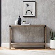 "W. Trends Farmhouse 46"" Sofa Console Entryway Table - Gray Wash"