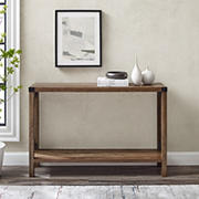 "W. Trends Farmhouse 46"" Sofa Console Entryway Table - Rustic Oak"