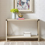 "W. Trends Farmhouse 46"" Sofa Console Entryway Table - White Oak"