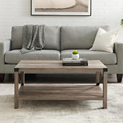 "W. Trends Farmhouse 40"" Coffee Table - Gray Wash"