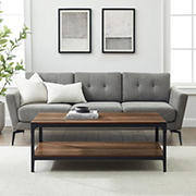 """W. Trends Industrial 20"""" Square Coffee Cocktail Table - Rustic Oak"""