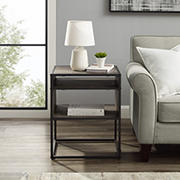 """W. Trends Industrial 20"""" Square Side End Table - Gray Wash"""