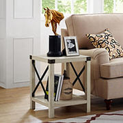"W. Trends Farmhouse 18"" Square Side End Table"