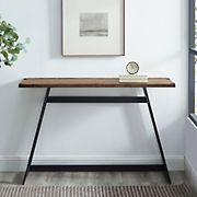 "W. Trends Farmhouse 46"" Sofa Console Entryway Table - Rustic Oak"