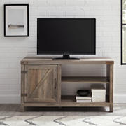 "W. Trends 44"" Farmhouse Barndoor TV Stand for Most TV's up to 50"" - Grey Wash"