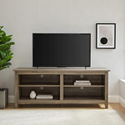 "W. Trends 58"" Wood Media TV Stand Console for TVs Up to 65"" - Gray Wash"