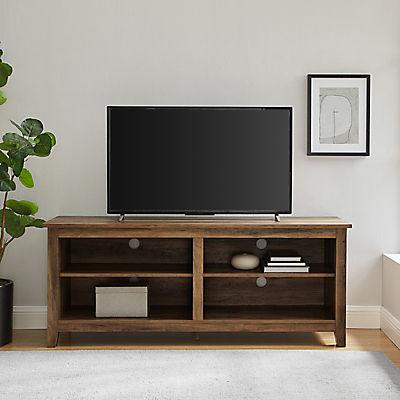 "W. Trends 58"" Wood Media TV Stand Console - Rustic Oak"