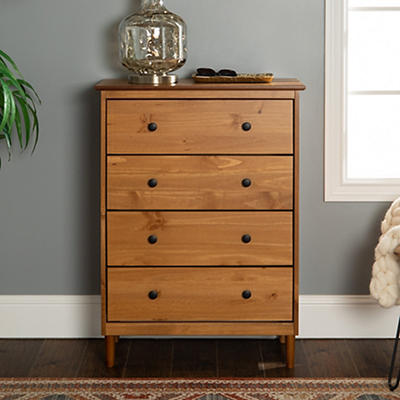 W. Trends 4 Drawer Solid Wood Youth Dresser - Caramel