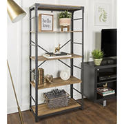 "W. Trends Farmhouse 64"" Wood Media Storage Bookcase - Barnwood"