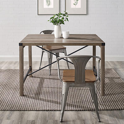 "W. Trends Farmhouse 48"" Wood Kitchen Dining Table - Gray Wash"