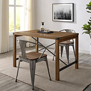 "W. Trends Farmhouse 48"" Wood Kitchen Dining Table - Rustic Oak"