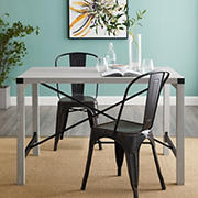 "W. Trends Farmhouse 48"" Wood Kitchen Dining Table - Slate Gray"