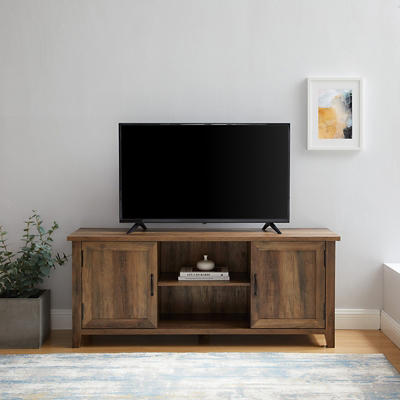 "W. Trends Farmhouse 58"" Wood Media TV Stand Console - Rustic Oak"
