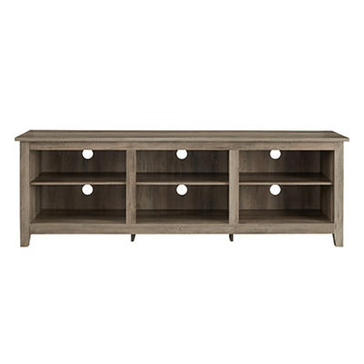 "W. Trends 70"" Wood Media TV Stand Console - Gray Wash"