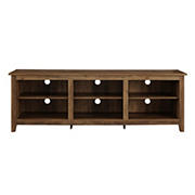 "W. Trends 70"" Rustic Open Storage TV Stand or TVs up to 80"" - Rustic Oak"