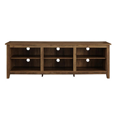 """W. Trends 70"""" Wood Media TV Stand Console for TVs Up to 75"""" - Rustic Oak"""