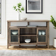 "W. Trends 52"" Wood Media TV Stand Console - Gray Wash"