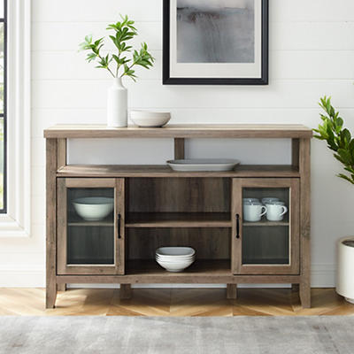 """W. Trends 52"""" Wood Media TV Stand Console - Gray Wash"""