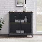 "W. Trends Industrial 30"" Accent Entryway Storage Cabinet"