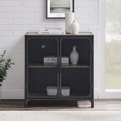 "W. Trends Industrial 30"" Accent Entryway Storage Cabinet - Gray Wash"