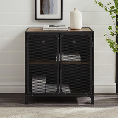 "W. Trends Industrial 30"" Accent Entryway Storage Cabinet - Rustic Oak"