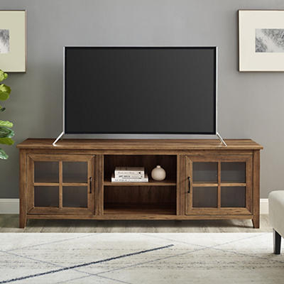 "W. Trends Farmhouse 70"" Media TV Stand Console for TV Stands Up to 75"""