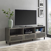 "W. Trends Modern 70"" One Drawer TV Media Console for TVs Up to 75"" - Stone Gray"